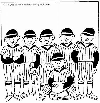 Baseball Coloring Team Pages Sports