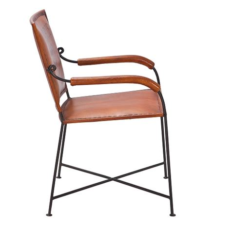 rosi dining chair with arms leather design metal
