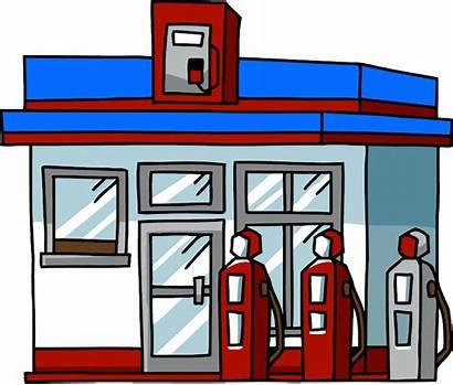 Station Gas Clipart Cartoon Clip Pump Cliparts