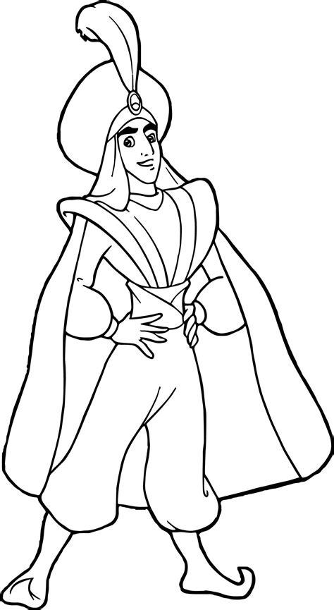 cool prince ali aladdin coloring page wecoloringpage