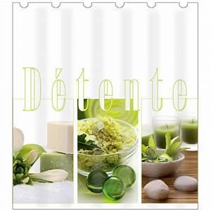 Rideau De Douche : rideau de douche polyester 180x200 cm zen vert ~ Voncanada.com Idées de Décoration