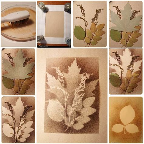 Painting Ideas Diy by Creative Ideas Diy Stunning Leaf Painting Using Toothbrush