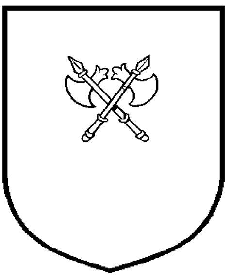 blank crest template   clip art