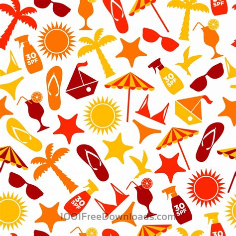 free vectors seamless pattern of summer abstract