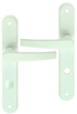 poign 233 e de porte int 233 rieure pas cher en aluminium laqu 233 blanc sur plaque conda entraxe 195 mm