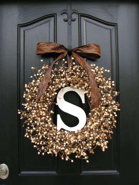 personalized wreaths wedding wreaths berry wreaths front