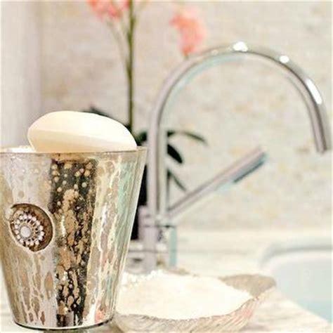 blue mercury glass bath accessories evleen mercury glass bath accessories