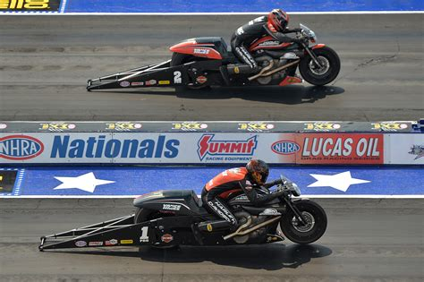 motocross races in ohio harley davidson rockets to victory in nhra pro stock