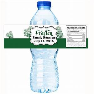 green tree family reunion water bottle labels select the With family reunion water bottle labels