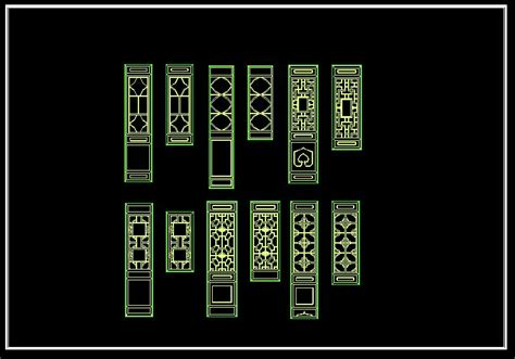 chinese classic grilles design cad drawings downloadcad
