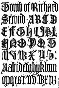 179 english gothic letters 15th century fcb for Old english gothic letters
