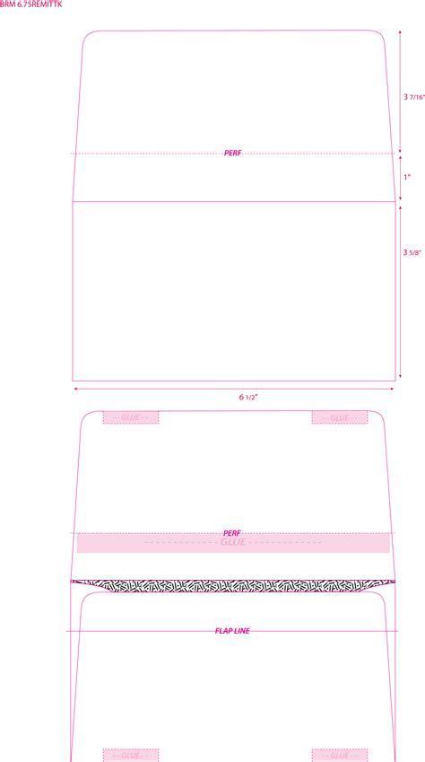 remittance envelope template 6 3 4 remittance envelope with perforation and inside tint imprinted 3 5 8 x 6 1 2