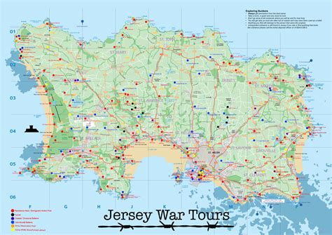 jersey ww map jersey war tours