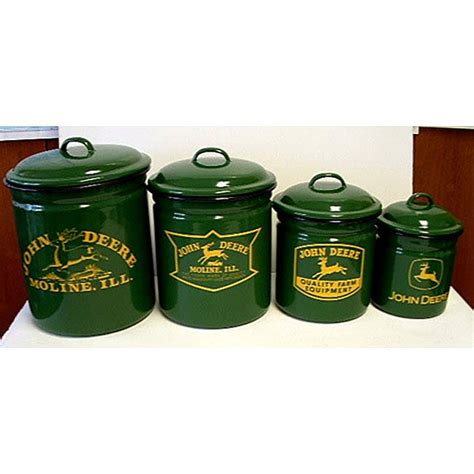 Deere Kitchen Canisters by Deere 4 Canister Set 12000709 Overstock