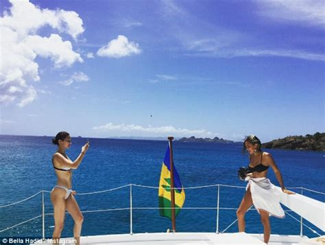 Bikini Boat Pictures by Bella Hadid Shares Instagram Bikini Phot On A Yacht During