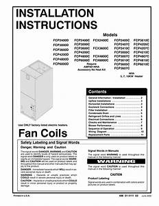 Installation Instructions Fan Coils