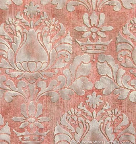 stencil tutorial stenciling  textured fabric wall