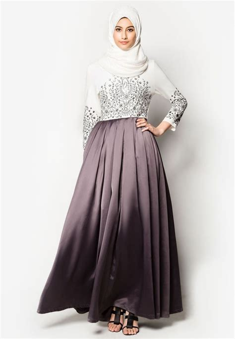 model jilbab syar i buy zalia embroidered maxi dress zalora malaysia