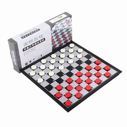 Checkers Chess Magnetic Draughts Board Portable International