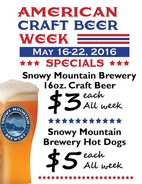 american craft week snowy mountain brewery american craft week 3328