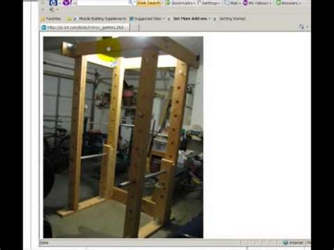 build  homemade power rack   wood  pipe youtube