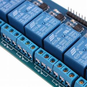 8 Channel Isolated 5v 10a Relay Module Opto Coupler For