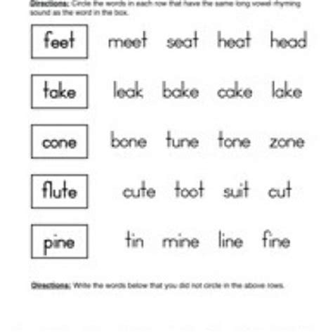 rhyming words worksheet for grade 1 worksheets for all