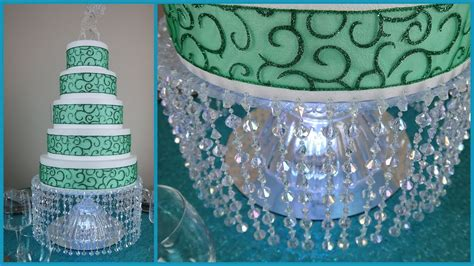 diy lighted chandelier cake stand youtube
