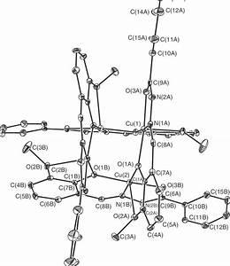 Ortep Diagram Of  Cu 4  L  4   Cluster Of 1 Showing The Cu