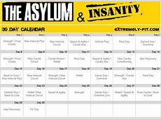 Asylum Workout Calendar Search Results Calendar 2015