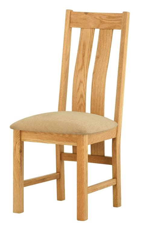 portland oak dining chair upholstered seat