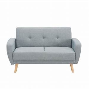 Canape 2 places convertible scandinave gris silo achat for Canapé scandinave convertible 2 places