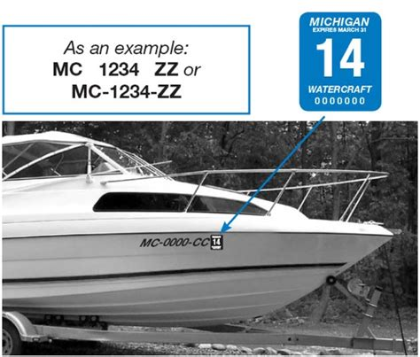 Boat Registration Rules In Florida by Installing Your Michigan Mc Numbers Michigan Mc Numbers