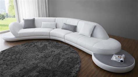 canapé arrondi cuir canape arrondi cuir blanc canapé idées de décoration