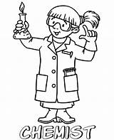 Coloring Chemist Professions Pages Scientist Printable Topcoloringpages Children sketch template