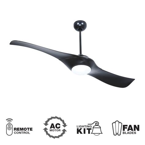 2 blade ceiling fan with light craftmade vg54fb2 flat black 54 quot 2 blade indoor ceiling