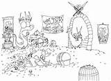Coloring Cave Sloth Llama Designlooter Llamas Alligators Pile Pirate sketch template
