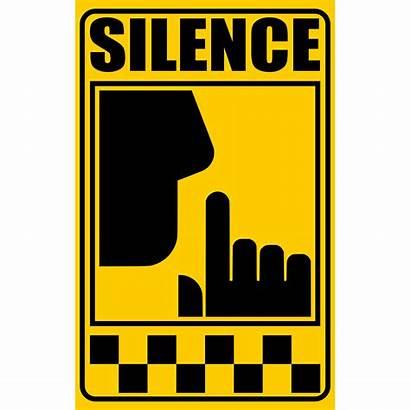 Silence Sign Clipart Signal Clip Vector Silencio