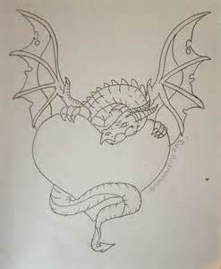 Dragon Holding Heart Drawings