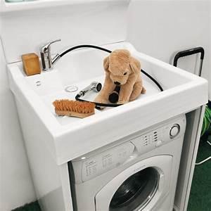 Mobile porta lavatrice con piano lavaggio