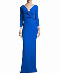 lyst la petite robe di chiara boni ilenia 3 4 sleeve With robe 3 4