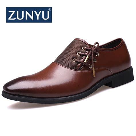 Zunyu Brand New Comfortable Mens Dress Shoes Size
