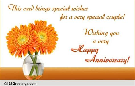 special wishes  happy anniversary ecards greeting cards