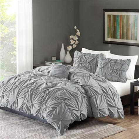 King Sized Duvet by Ruched Bedding Set Gray King Size Bed Duvet Comforter