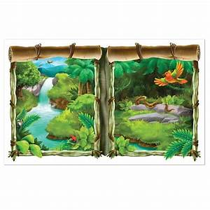 Jungle safari wall setter rainforest decorations