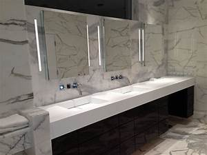 Luxurious Corian Bathroom Countertops With Sink Bath At