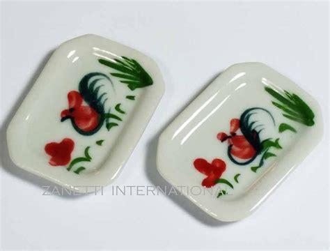 Set of 2 Dollhouse Miniature Ceramic Plates * Doll Mini