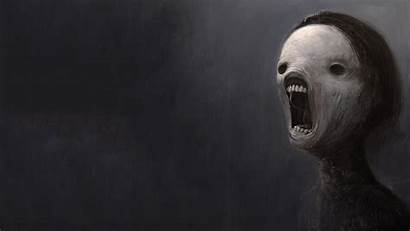 Scary Dark Face Background Depressing Screaming Wallpapers