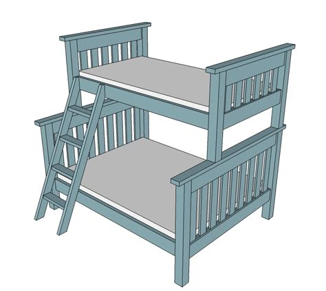twin  full simple bunk bed plans ana white