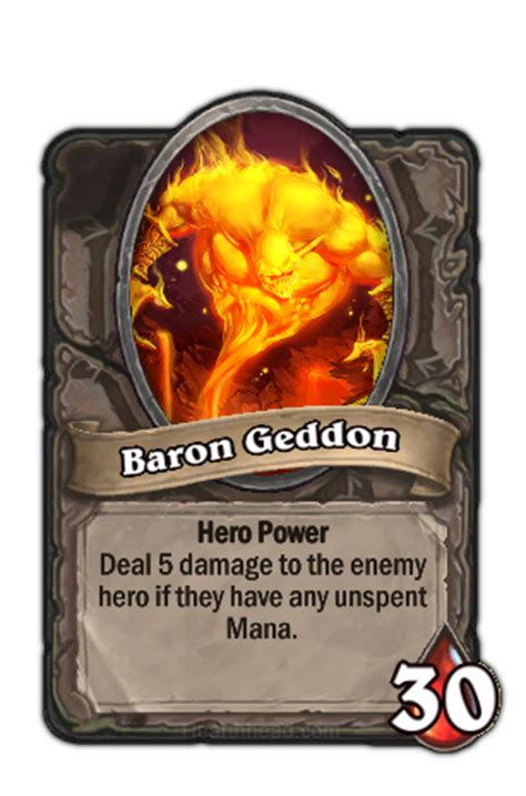 Baron Geddon Deck Ungoro by Baron Geddon Normal Hearthstone Wiki